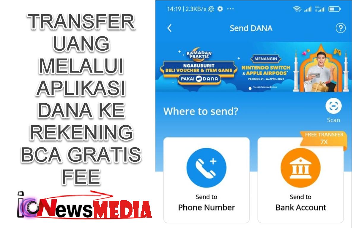 Cara transfer uang lewat DANA ke Rekening BCA tanpa fee ...